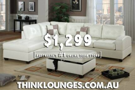 NEW SOFA LOUNGE WITH CHAISE DISCOUNT FACTORY PRICES !!!! City North Canberra Preview