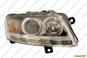 Head Light Passenger Side Xenon With Auto Leveling Without Curve High Quality Audi A6 2005-2008