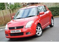 2006 SUZUKI SWIFT VVTS GLX 1.5 3 DOOR RED COLOUR *3 MONTHS WARRANTY*2 KEYS*NEW MOT*LOW MILEAGE*