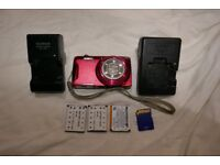 Fujifilm 12x zoom compact digital camera video 16mp bundle spare batteries, charger great pictures