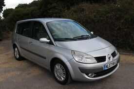 FROM ONLY £25 PER WEEK 2007 RENAULT SCENIC MPV 5 SEATER 1.9 DIESEL MANUAL SILVER LOW MILES FSH