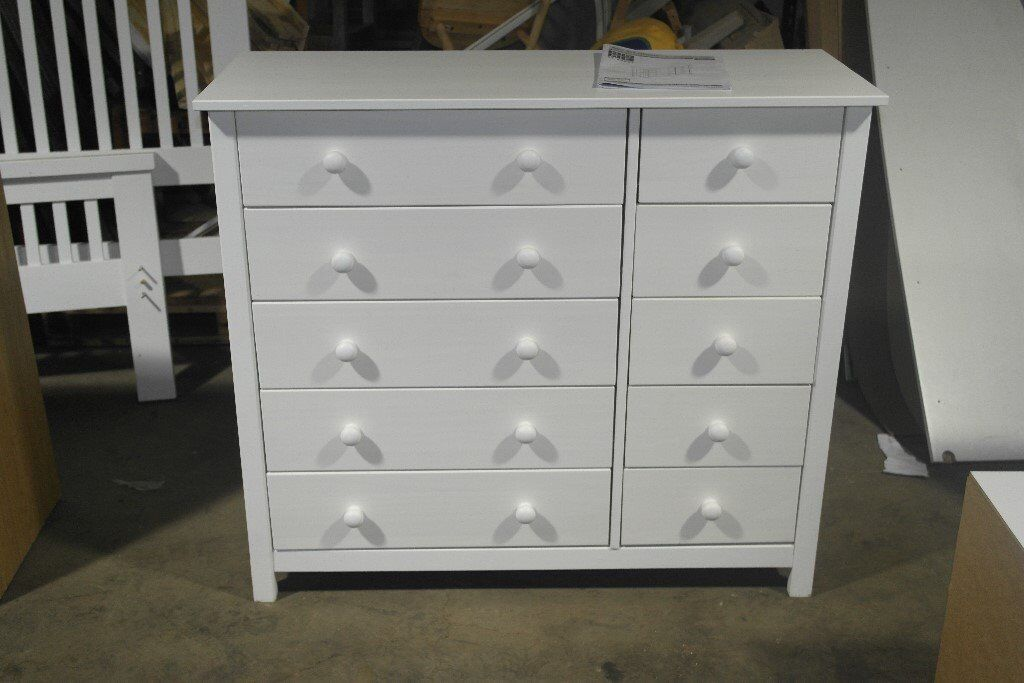 Home new scandinavia 5 5 drawer chest white