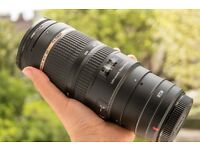 Tamron 70-200 f2.8 VC CANON EF mount, offers welcome
