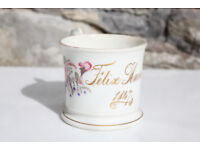 Stunning Antique Early Victorian Birth / Christening Cup 1847 Felix Harris Handpainted Flowers