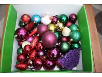 Box of quality christmas decorations/baubles