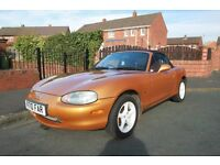 MAZDA MX-5 FOR SALE. leather seats,mohair roof,chrome style bar,air induction, modified.alloy wheels