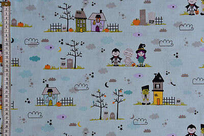 n Fabric - 100% Cotton, Haunted House, Trick or Treat (Blake Halloween)