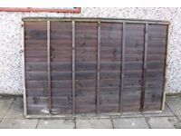 overlap fence panels