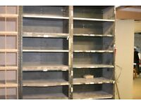 Large Dexion shelving in good order. At least six units for sale. Perfect for a startup or refit.
