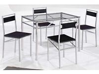 modern, Dining table, set, with 4 Chairs, new, deliver, new, flat packed, hard top