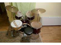 Drum Set, Symbols and Stool