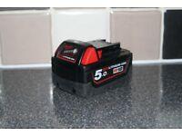 Milwaukee 18v 5.0ah Battery Li-on Genuine