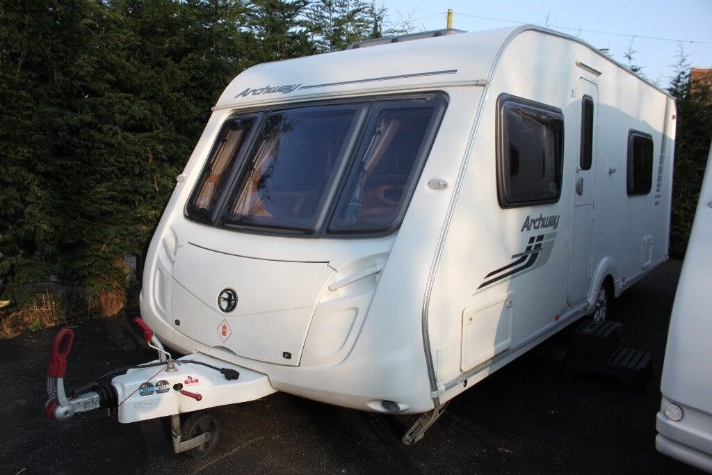 Swift Archway Cranford 2010 4 Berth Caravan (RareLayout) Air Pumped Porch Awning