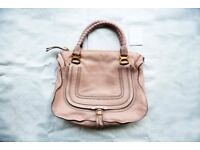 Chloe Large Marcie double carry bag in nude, second hand but in great condition
