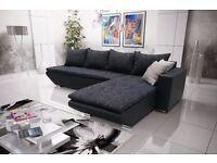 Corner sofa bed sofa bed UK STOCK 1-5 DAY DELIVERY(Black)