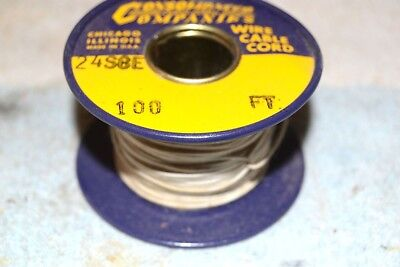 CONSOLIDATED WIRE CO NEW NOS 24SCE SINGLE COVERED ENAMEL AWG 24 SPOOL 100 feet