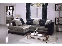 special 3+2 promotion sofa set 5 only to clear modern crush velvet black