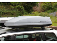 EXODUS ROOF BOX LARGE 470L VERY GOOD CONDITION NOT THULE GREY