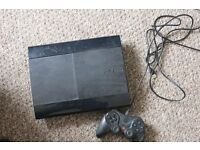 Playstation 3 500GB super slim, 1 Wired controllers no games