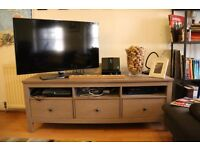 Solid pine Tv bench (Taupe/Grey-Brown) £145