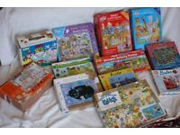 Collection of 11 children's puzzles & a game
