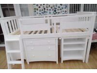 Kids Sleep Station with cupboard, drawers and pull out desk (RRP £450)
