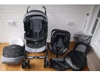 Silver Cross 3D pram travel system with car seat 3 in Grey Cargo *CAN POST*
