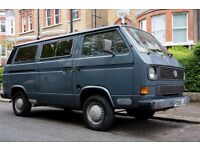 VW T25 Campervan, Devon Conversion, TWIN slider, Deep blue, original factory paint, est1989 / 1.9L