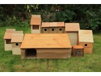 BIRD TABLES & BIRD BOXES TO BUG BOXES & HEDGEHOG HOUSES