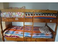 Wooden Bunk Bed for Sale
