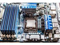 Intel i7-930, Gigabyte GA-X58A-UD3D, 12Gb DDR3 1600 MHz Patiot.
