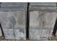 "Delabole roofing slates. Slate and a half size 24""x 18"" Beautiful condition.."