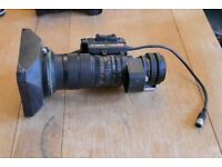 TV-lens -CANON; 1:1.7 / 6-48mm; Canon J8x6B4 KRS A SX12; CCD 8x with HOOD Classic Movie and TV Lens