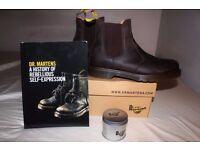 Brand New UK8 DR MARTENS Chelsea Boots Unisex Men Women Shoes + EXTRAS