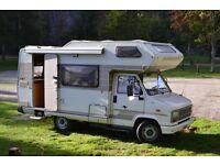 Hymer Camp 55 Motorhome 4/5 Berth, 1990 Peugot J5 2.5L TD, Left hand drive, MOT until 23 June 2017