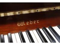 Quality upright piano Weber - cherry polish