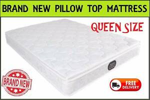 BRAND NEW Queen Pillow Top Mattress TOP VALUE Free Delivery New Farm Brisbane North East Preview