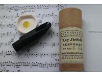 KAY SIEBOLD RESPONSE tenor sax mouthpiece ebonite 8* Saxophone