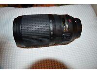 AF-S VR Zoom Nikkon 70-300mm f/4.5-5.6G IF-ED Brand New includes lens hood