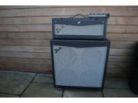 FENDER MUSTANG V GUITAR AMPLIFIER WITH SPEAKER STACK AND FOOT PEDAL