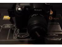 Nikon D80 camera with 3 Nikkor lenses Nikon SB600 Flash 3 batteries bag power winder camera armor.