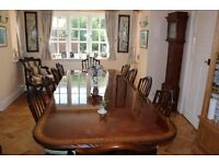 Elegant and stylish quality Mahogany Dining Table that seats up to 14 with two leaves