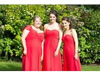Watermelon red bridesmaid dresses