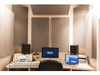 New build recording / production / mixing room in Hackney. Dry hire session £80 or monthly deal £160
