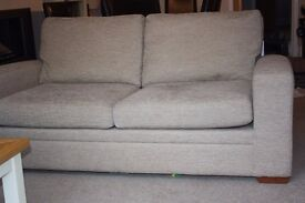Next 3 seater sofa bed settee, Excellent condition, Rarely used. Neutral weave fabric 180w 83h 90d.