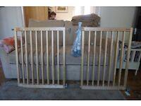 Pair of Lindam Wooden Stair Gates
