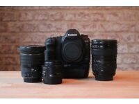 CANON 5D MKii mk2 mark 2 / 3 LENS' BATTERIES ORIGNAL PACKAGING LOW SHUTTER COUNT