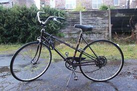 Raleigh Bicycle Vintage Road bike Ladies Original Some Repair Needed, Flat tyre