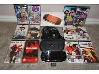 Sony PSP Black, fully boxed including all leads, 12 games & 2GB Sony memory card.