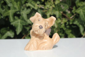 Vintage Sylvac Dog Figurine 1119 Terrier Dog with Bow Dog Ornament Slyvac